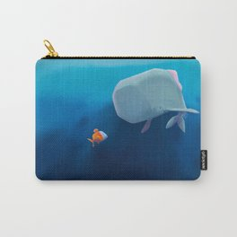 The little sperm whale and the fish Carry-All Pouch