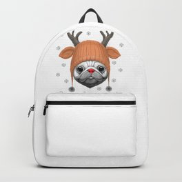 Pug Rudolph Backpack