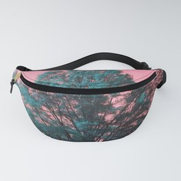 5D Visions : Teal Tree Pink Sky Fanny Pack