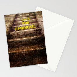 Hold the handrail Stationery Cards