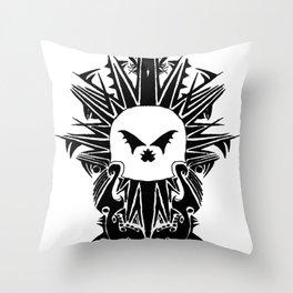 Death Island Skull Throw Pillow