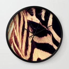 Zazu the Zebra Wall Clock