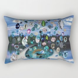Puffy Little Cloud Raining Diamonds in Her Eye (Lidless Lucy) Rectangular Pillow