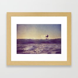 Dancing with the Waves Framed Art Print
