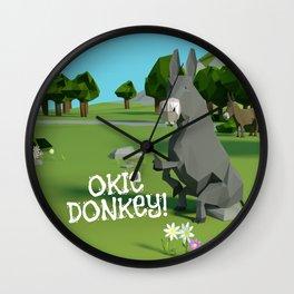 Okie Donkie! Wall Clock