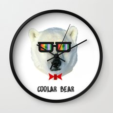 coolar bear Wall Clock