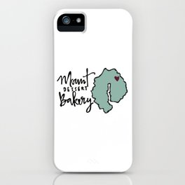 Mount Dessert Bakery Logo iPhone Case