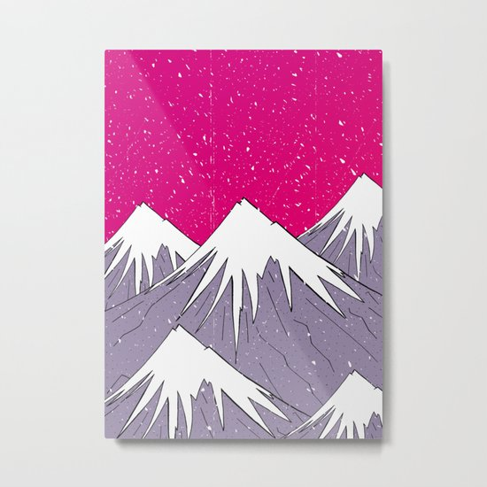 The mountains and the Snow Metal Print