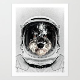 Buster Astro Dog Art Print