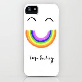 Keep Smiling 2020 Rainbow iPhone Case