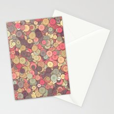 Vintage Buttons II Stationery Cards