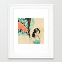 swim Framed Art Prints featuring swim by Laura Graves