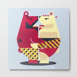 Two Bears Metal Print