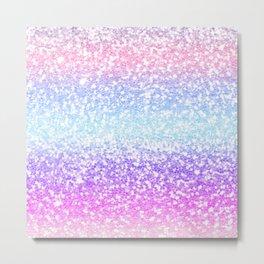 Faux Glitter Pastel Rainbow Gradient  Metal Print