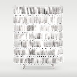 Lines and dots Shower Curtain