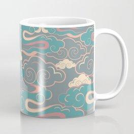 Colourful purple, pink, aqua clouds at twilight Coffee Mug