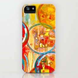 Against The Rain Abstract Orange iPhone Case