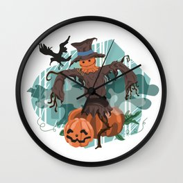 Scary Scarecrow Wall Clock