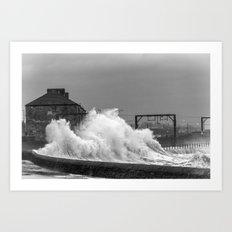 Stevenston Storms Art Print