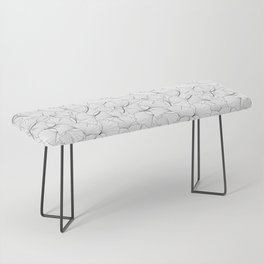 ginkgo leaves (white) Bench
