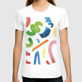 water-colour pattern T-shirt