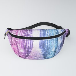 Magical Forest : Pastel Pink Lavender Aqua Periwinkle Ombre Fanny Pack