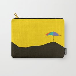 Colorful Parasol Black Yellow Background #decor #society6 #buyart Carry-All Pouch