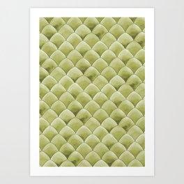 Green Snakeskin-ish Tessallation Art Print