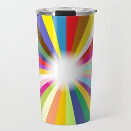 Bright Ray Background Travel Mug
