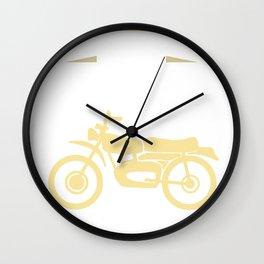 I Dream a Motorcycle Wall Clock