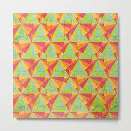 Pattern with umbrella Metal Print