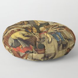 """Pieter Brueghel II (The Younger) """"The payment of the tithes"""" Floor Pillow"""