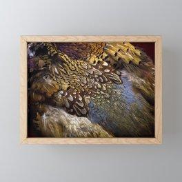 Pheasant plumage Framed Mini Art Print