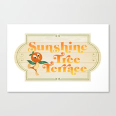Sunshine Tree Terrace Canvas Print