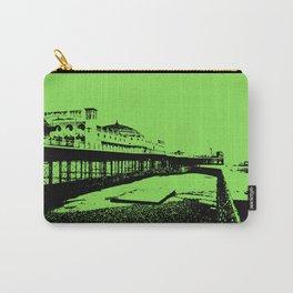 Brighton Pier Mono Green Carry-All Pouch