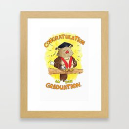 Graduation greeting card by Nicole Janes Framed Art Print