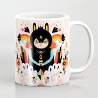 queen Mugs featuring Rainbow Queen by Muxxi