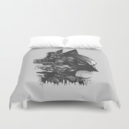 The Caped Crusader Duvet Cover