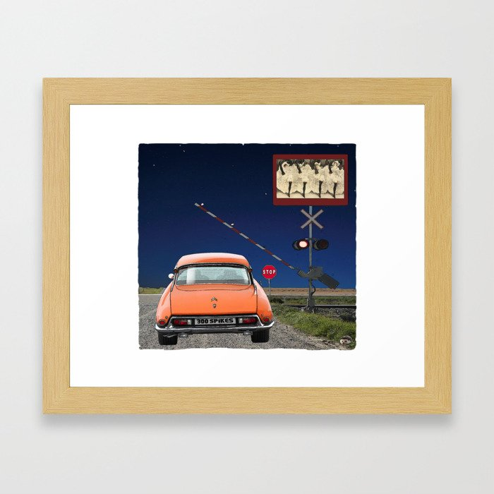 Can-can Stop Sign Framed Art Print