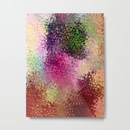 Abstract art watercolorart brow pink minimalist Metal Print