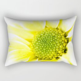 Yellow Daisy Macro Nature Photography Rectangular Pillow