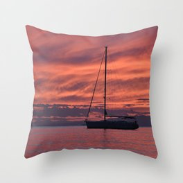 Cape Sounio 4 - Greece - Landscape and Rural Art Photography Throw Pillow
