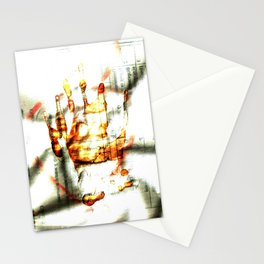 Trace of the hand Stationery Cards