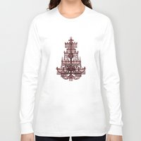 chandelier Long Sleeve T-shirts featuring Vintage Chandelier by Bluepress