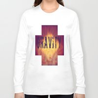 gravity Long Sleeve T-shirts featuring Gravity by Skye Rao