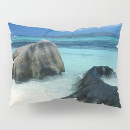 Seychelles Tropical Island Paradise White Sand Beach Pillow Sham