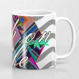 High on Life & Festival Vibes Tribal Pattern Coffee Mug