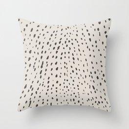 Silver Fawn Spots Throw Pillow