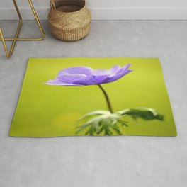 Purple Anemone Natural Green Background #decor #society6 #buyart Rug