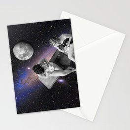 hangin in space Stationery Cards